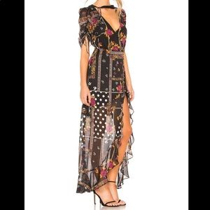 For Love and Lemons Stella patchwork maxi dress